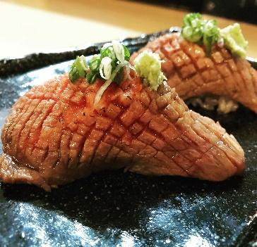 長崎産黒毛和牛炙り寿司